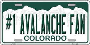 Number 1 Avalanche Fan Wholesale Novelty Metal License Plate Tag LP-13360