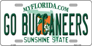 Go Buccaneers Wholesale Novelty Metal License Plate Tag LP-13365