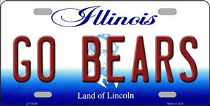 Go Bears Wholesale Novelty Metal License Plate Tag LP-13385