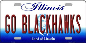 Go Blackhawks Wholesale Novelty Metal License Plate Tag LP-13393