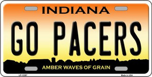 Go Pacers Wholesale Novelty Metal License Plate Tag LP-13397