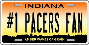 Number 1 Pacers Fan Wholesale Novelty Metal License Plate Tag LP-13398