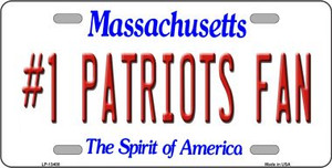 Number 1 Patriots Fan Wholesale Novelty Metal License Plate Tag LP-13408