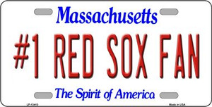 Number 1 Red Sox Fan Wholesale Novelty Metal License Plate Tag LP-13410