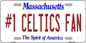 Number 1 Celtics Fan Wholesale Novelty Metal License Plate Tag LP-13412