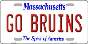 Go Bruins Wholesale Novelty Metal License Plate Tag LP-13413