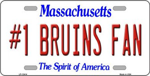 Number 1 Bruins Fan Wholesale Novelty Metal License Plate Tag LP-13414