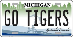 Go Tigers Wholesale Novelty Metal License Plate Tag LP-13416