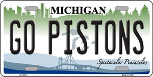 Go Pistons Wholesale Novelty Metal License Plate Tag LP-134117