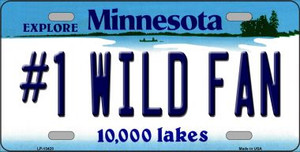 Number 1 Wild Fan Wholesale Novelty Metal License Plate Tag LP-13428