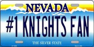 Number 1 Golden Knights Fan Wholesale Novelty Metal License Plate Tag LP-13440