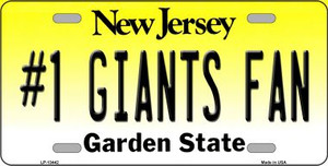Number 1 Giants Fan Wholesale Novelty Metal License Plate Tag LP-13442