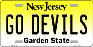 Go Devils Wholesale Novelty Metal License Plate Tag LP-13445