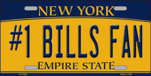 Number 1 Bills Fan Wholesale Novelty Metal License Plate Tag LP-13452
