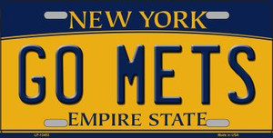 Go Mets Wholesale Novelty Metal License Plate Tag LP-13453