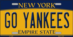 Go Yankees Wholesale Novelty Metal License Plate Tag LP-13455