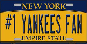 Number 1 Yankees Fan Wholesale Novelty Metal License Plate Tag LP-13456