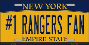 Number 1 Rangers Fan Wholesale Novelty Metal License Plate Tag LP-13462
