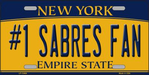 Number 1 Sabres Fan Wholesale Novelty Metal License Plate Tag LP-13464