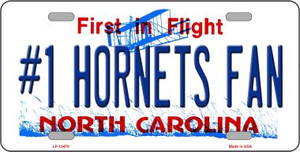 Number 1 Hornets Fan Wholesale Novelty Metal License Plate Tag LP-13470