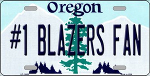 Number 1 Blazers Fan Wholesale Novelty Metal License Plate Tag LP-13488