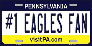 Number 1 Eagles Fan Wholesale Novelty Metal License Plate Tag LP-13490