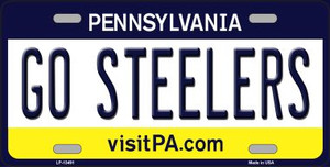 Go Steelers Wholesale Novelty Metal License Plate Tag LP-13491