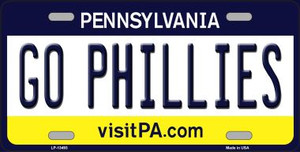 Go Phillies Wholesale Novelty Metal License Plate Tag LP-13493