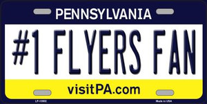 Number 1 Flyers Fan Wholesale Novelty Metal License Plate Tag LP-13502