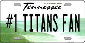 Number 1 Titans Fan Wholesale Novelty Metal License Plate Tag LP-13504