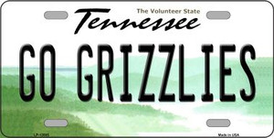 Go Grizzlies Wholesale Novelty Metal License Plate Tag LP-13505
