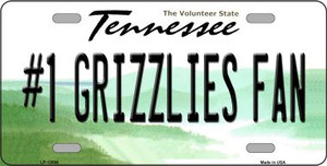Number 1 Grizzlies Fan Wholesale Novelty Metal License Plate Tag LP-13506