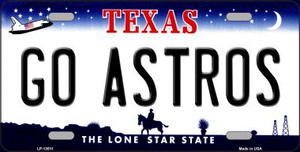 Go Astros Wholesale Novelty Metal License Plate Tag LP-13511