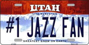 Number 1 Jazz Fan Wholesale Novelty Metal License Plate Tag LP-13524