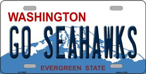 Go Seahawks Wholesale Novelty Metal License Plate Tag LP-13525