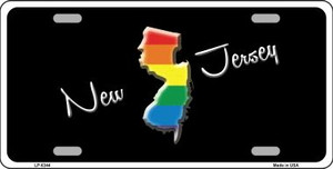 New Jersey Rainbow Wholesale Metal Novelty License Plate LP-6344