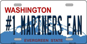 Number 1 Mariners Fan Wholesale Novelty Metal License Plate Tag LP-13528