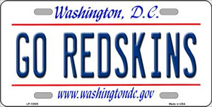 Go Redskins Wholesale Novelty Metal License Plate Tag LP-13535