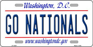 Go Nationals Wholesale Novelty Metal License Plate Tag LP-13537
