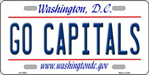 Go Capitals Wholesale Novelty Metal License Plate Tag LP-13541