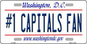 Number 1 Capitals Fan Wholesale Novelty Metal License Plate Tag LP-13542