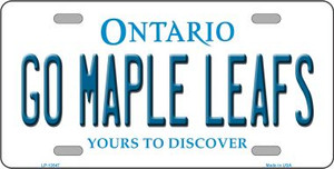 Go Maple Leafs Wholesale Novelty Metal License Plate Tag LP-13547