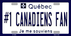 Number 1 Canadiens Fan Wholesale Novelty Metal License Plate Tag LP-13550