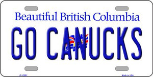 Go Canucks Wholesale Novelty Metal License Plate Tag LP-13551