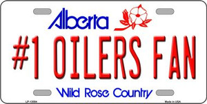 Number 1 Oilers Fan Wholesale Novelty Metal License Plate Tag LP-13554