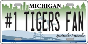 Number 1 Tigers Fan Wholesale Novelty Metal License Plate Tag LP-13144
