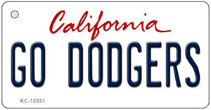 Go Dodgers Wholesale Novelty Metal Key Chain KC-13331