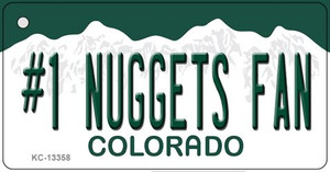 Number 1 Nuggets Fan Wholesale Novelty Metal Key Chain KC-13358