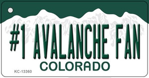 Number 1 Avalanche Fan Wholesale Novelty Metal Key Chain KC-13360