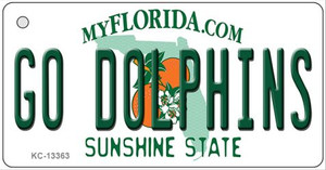 Go Dolphins Wholesale Novelty Metal Key Chain KC-13363